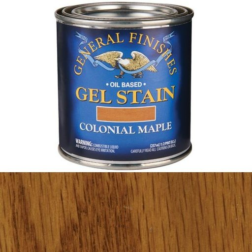 View a Larger Image of Colonial Maple Gel Stain Solvent Based 1/2 Pint