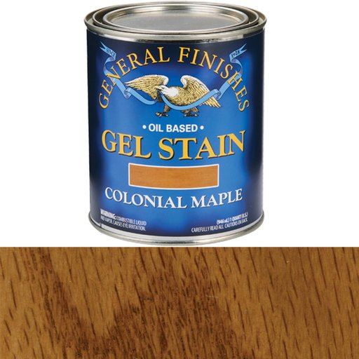 View a Larger Image of Colonial Maple Gel Stain Solvent Based Quart