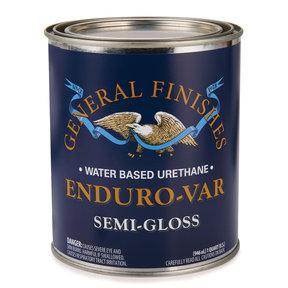 Semi-Gloss Enduro-Var Varnish Water Based Quart