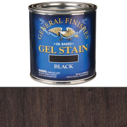 View a Larger Image of Black Stain Gel Solvent Based 1/2 Pint