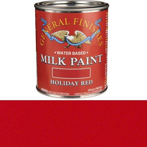 View a Larger Image of Holiday Red Milk Paint Water Based Pint
