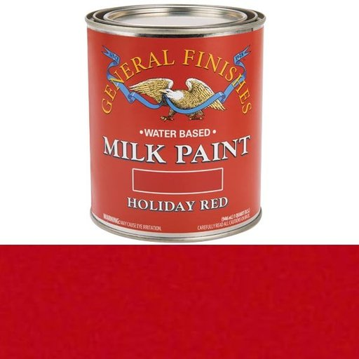 View a Larger Image of Holiday Red Milk Paint Water Based Quart