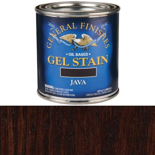 View a Larger Image of Java Gel Stain Solvent Based 1/2 Pint