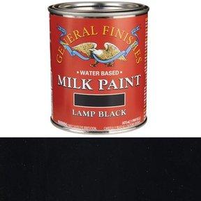 Lamp Black Milk Paint Water Based Pint