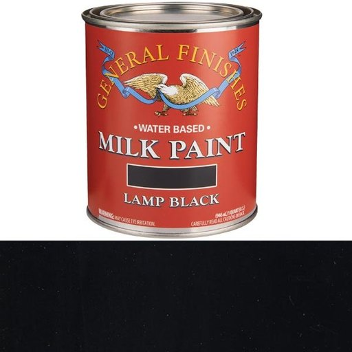 View a Larger Image of Lamp Black Milk Paint Water Based Quart