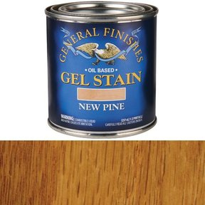 New Pine Gel Stain Solvent Based 1/2 Pint