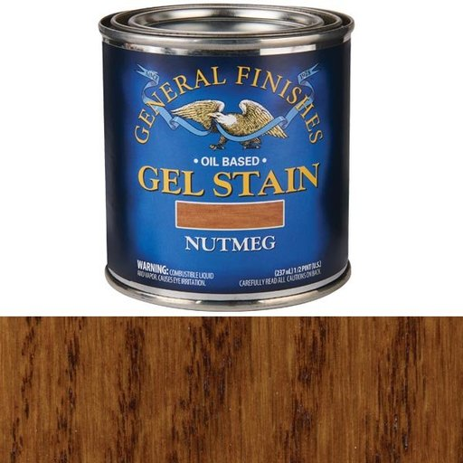 View a Larger Image of Nutmeg  Gel Stain Solvent Based 1/2 Pint