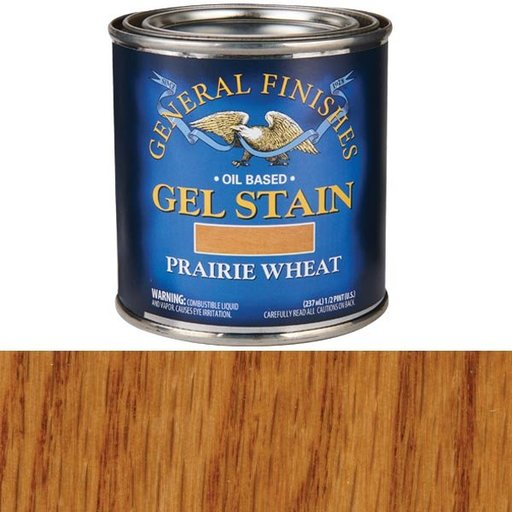 View a Larger Image of Prairie Wheat Gel Stain Solvent Based 1/2 Pint