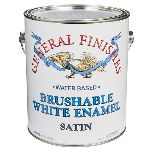 View a Larger Image of White Satin Enamel Water Based Gallon