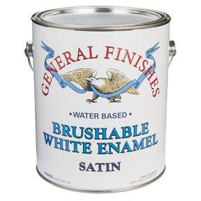 White Satin Enamel Water Based Gallon