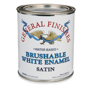 White Satin Enamel Water Based Quart
