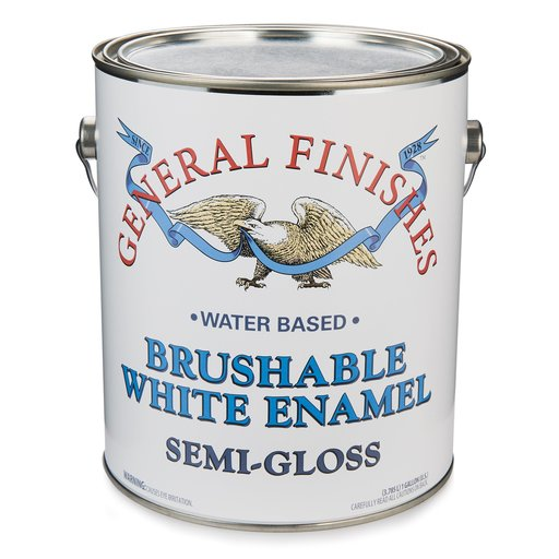 View a Larger Image of White Semi-Gloss Enamel Water Based Gallon