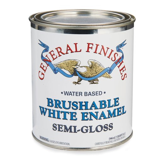 View a Larger Image of White Semi-Gloss Enamel Water Based Quart