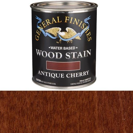 View a Larger Image of Wood Stain, Water Based, Antique Cherry Stain, Quart