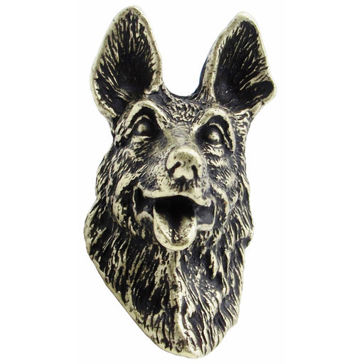 View a Larger Image of German Shepherd Knob Brass Oxide