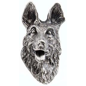 German Shepherd Knob Pewter Oxide
