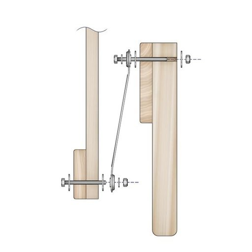 View a Larger Image of Glider Bracket Hardware 4 pc