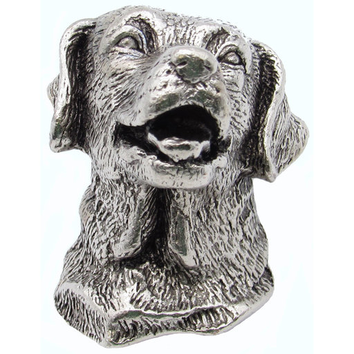 View a Larger Image of Golden Retriever Knob Pewter Oxide