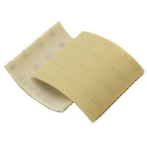"Goldflex Soft 4 1/2"" X 5"" Foam-Backed Abrasive Pad 320 grit, 320 Grit, 200/Pack/box"