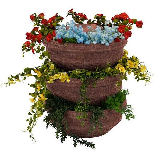 View a Larger Image of Good Ideas English Composting Garden, 3 pack, Red
