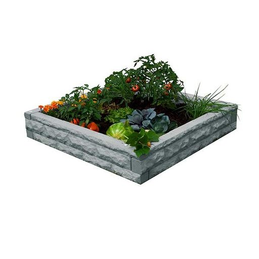 View a Larger Image of Good Ideas Garden Wizard Raised Garden Bed, Light Granite