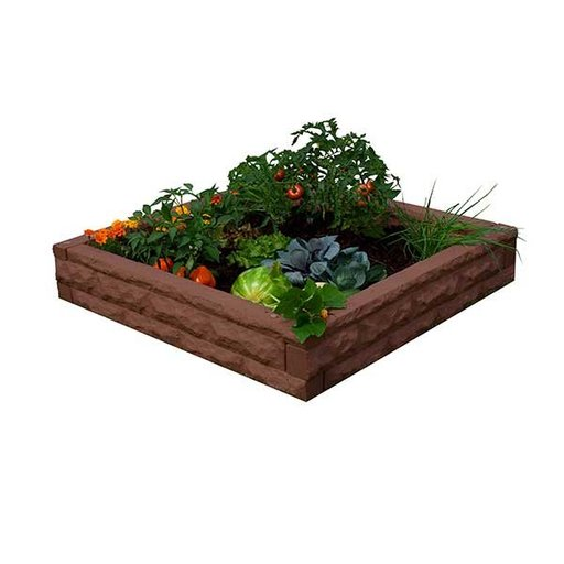 View a Larger Image of Good Ideas Garden Wizard Raised Garden Bed, Red