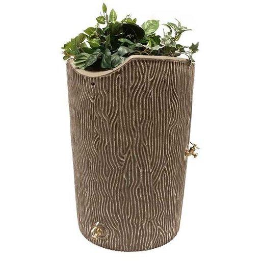 View a Larger Image of Good Ideas Impressions Bark Rain Saver, 50 Gallon, Khaki