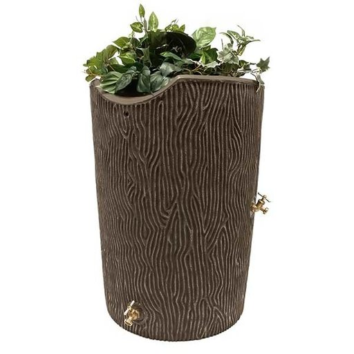 View a Larger Image of Good Ideas Impressions Bark Rain Saver, 50 Gallon, Oak
