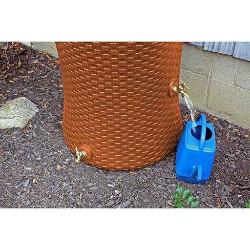 View a Larger Image of Good Ideas Impressions Nantucket Rain Saver, 50 Gallon, Terra Cotta