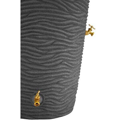 View a Larger Image of Good Ideas Impressions Palm Rain Saver, 50 Gallon, Dark Granite