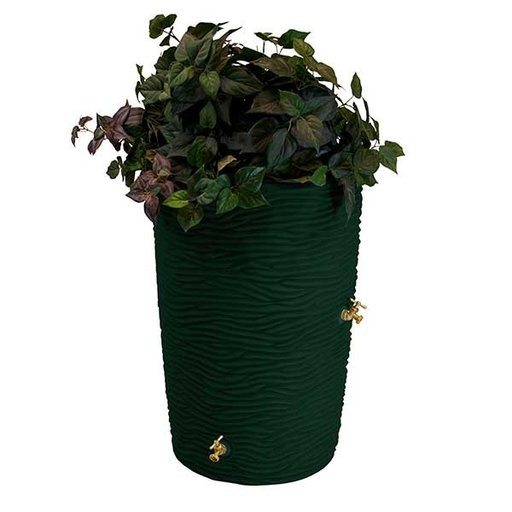 View a Larger Image of Good Ideas Impressions Palm Rain Saver, 50 Gallon, Green