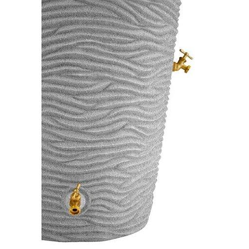 View a Larger Image of Good Ideas Impressions Palm Rain Saver, 50 Gallon, Light Granite