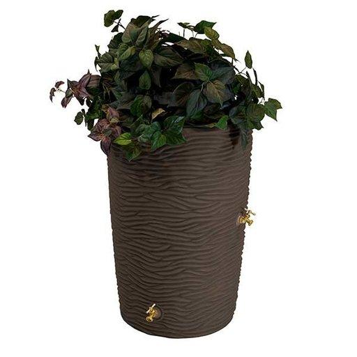 View a Larger Image of Good Ideas Impressions Palm Rain Saver, 50 Gallon, Oak