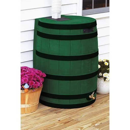 View a Larger Image of Good Ideas Rain Wizard 40 with Darkened Ribs, 40 Gallon, Green