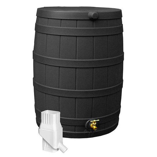 View a Larger Image of Good Ideas Rain Wizard 50 Diverter Kit, Black