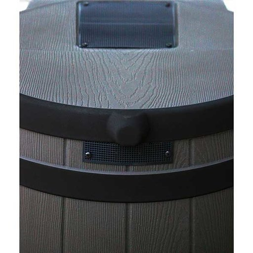 View a Larger Image of Good Ideas Rain Wizard 50 with Darkened Ribs, 50 Gallon, Oak
