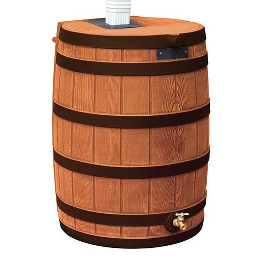 View a Larger Image of Good Ideas Rain Wizard 50 with Darkened Ribs, 50 Gallon, Terra Cotta