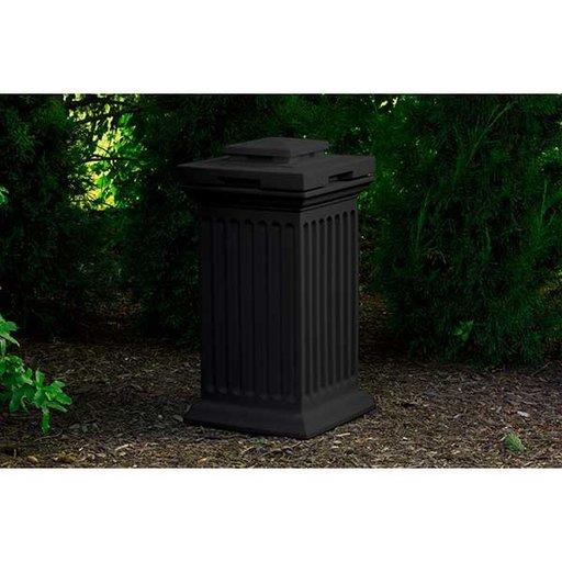 View a Larger Image of Good Ideas Savannah Column Storage and Waste Bin, 30 Gallon, Black