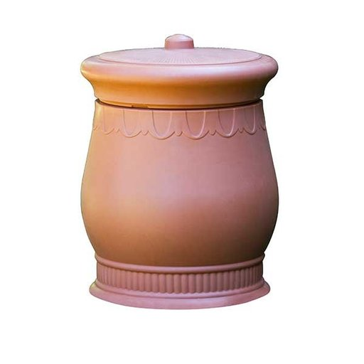 View a Larger Image of Good Ideas Savannah Urn Storage and Waste Bin, 30 Gallon, Terra Cotta