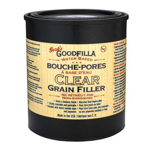 View a Larger Image of Clear Water Based Wood Grain Filler Quart