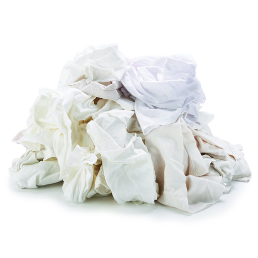 View a Larger Image of Rags White Wipers 2 lbs