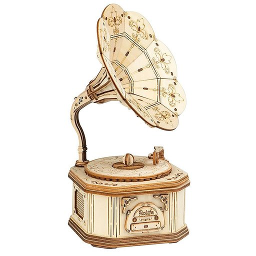 View a Larger Image of Gramophone 3D Puzzle Kit