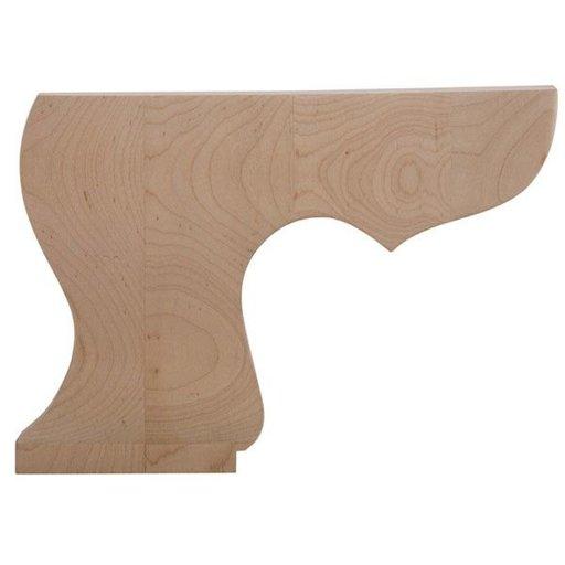 View a Larger Image of Left Pedestal Bun Foot - Alder, Model BFPED-L-A