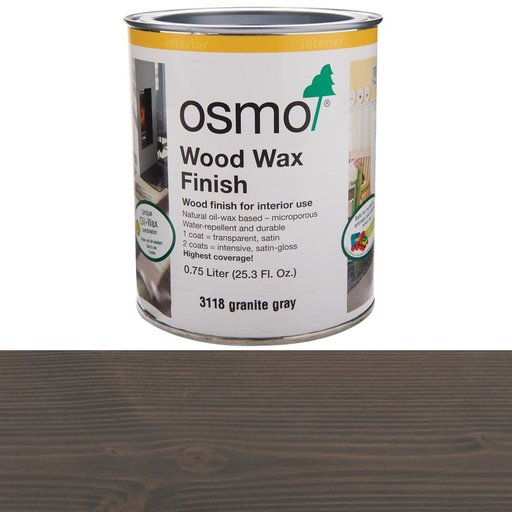 View a Larger Image of Grey Granite Wood Wax 3118Solvent Based .75 l