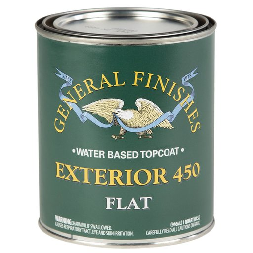 View a Larger Image of Flat Exterior 450 Varnish Water Based Quart