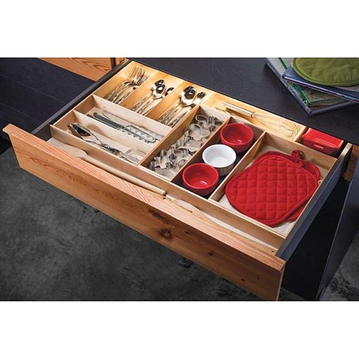 """View a Larger Image of Fineline Kitchen Cutlery Box 2 – Birch – 8-5/16"""" x 11-13/16"""" x 1-15/16"""""""