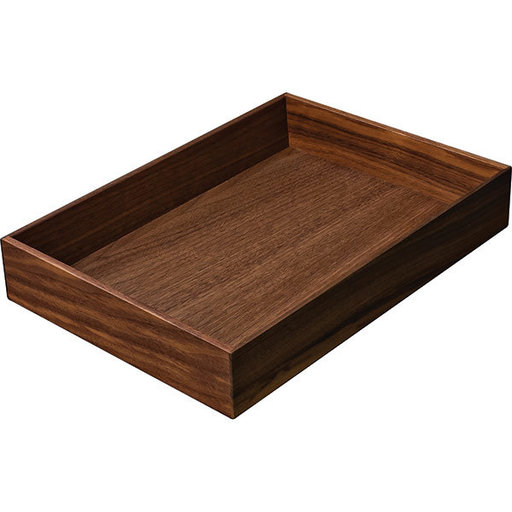 """View a Larger Image of Fineline Kitchen Cutlery Box 2 – Walnut – 8-5/16"""" x 11-13/16"""" x 1-15/16"""""""