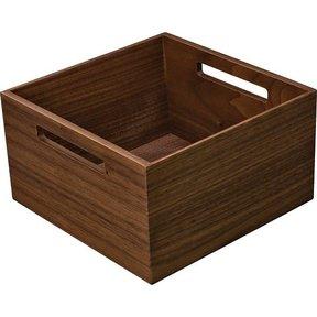 """Fineline Kitchen Storage Box 2 – Walnut – 8-5/16"""" x 8-5/16"""" x 4-3/4"""""""
