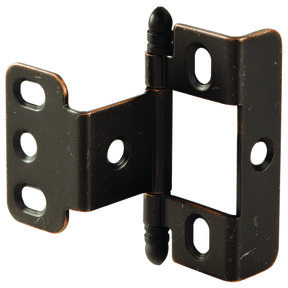Non-Mortise Full Wrap Hinge with Ball Finial in Copper Bronze Finish