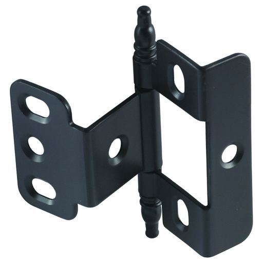 View a Larger Image of Non-Mortise Full Wrap Hinge with Minaret Finial in Oil Rubbed Bronze
